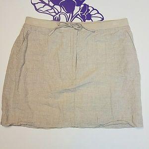TEHAMA Nancy Haley linen skirt.               0290
